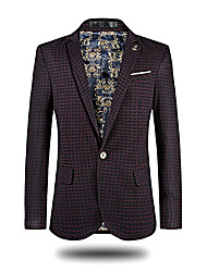cheap -Men's Casual/Daily Work Casual Spring Fall Blazer