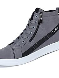 Masculino sapatos Borracha Outono Conforto Tênis Cadarço Para Preto Cinzento Amarelo
