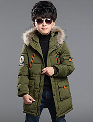 cheap -Boys' Solid Down & Cotton Padded Winter Long Sleeve Red Army Green