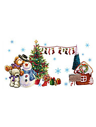 abordables -Animales Navidad Botánico Pegatinas de pared Calcomanías 3D para Pared Calcomanías Decorativas de Pared, Vinilo Decoración hogareña