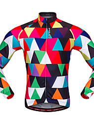 cheap -WOSAWE Cycling Jersey Unisex Long Sleeves Bike Jersey Top Bike Wear Breathability Fashion Mountain Cycling Road Cycling Cycling Camouflage