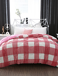 cheap -Comfortable 1pc Quilt,Polyester Hand-made Reactive Print Checkered / Gingham