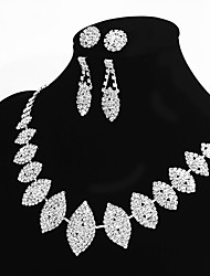 cheap -Women's Oval Basic Statement Jewelry Chain Necklace Rhinestone Alloy Chain Necklace , Wedding Party Engagement