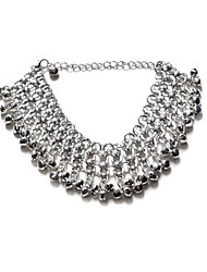 cheap -Multi-stone Crystal - Women's Silver Classic Natural Circle Geometric Crystal Alloy Anklet For Party Club