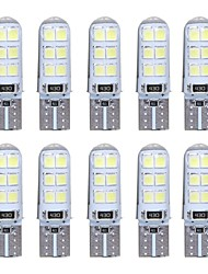 10pcs T10 W5W LED Car Interior Light 2835 12SMD Lamp Bulb Wedge Parking Dome Light Canbus Auto Car Styling DC12V