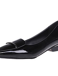 cheap -Women's Shoes PU Spring / Fall Comfort Flats Pointed Toe Sparkling Glitter for Black / Red