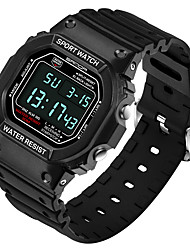 cheap -SANDA Men's Digital Wrist Watch Fashion Watch Japanese Hot Sale Silicone Band Charm Black