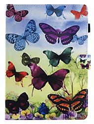 Недорогие -для держателя карточки крышки случая с подставкой сальто магнитный образец полный случай тела бабочка твердая кожа pu для яблока ipad pro