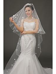 abordables -velos de capilla de velo de novia de una sola capa con accesorios de boda de tul de apliques
