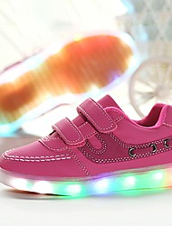 cheap -Girls' Shoes PU Fall / Winter Light Up Shoes / Comfort Sneakers LED for Casual / Outdoor White / Black / Pink