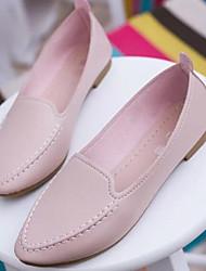 Недорогие -Жен. Обувь Полиуретан Весна / Осень Мокасины Мокасины и Свитер На плоской подошве Белый / Синий / Розовый