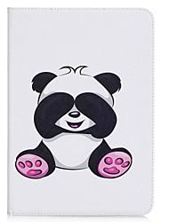 panda muster kartenhalter brieftasche mit stand flip magnetische pu ledertasche für samsung galaxy tab a 9,7 t550 t555 9,7 zoll tablet pc
