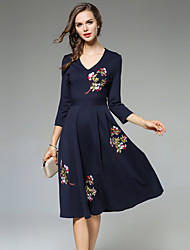 MAXLINDY Women's Party Going out Daily A Line Chiffon Dress