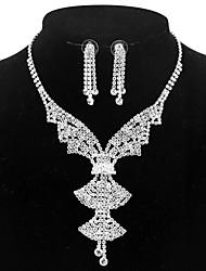 billige -Dame Smykkesæt - Sølvbelagt Simple, Mode Omfatte Halskæde Sølv Til Bryllup / Aftenselskab