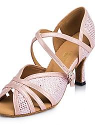 "cheap -Women's Latin Leatherette Professional Buckle Customized Heel Blushing Pink 1"" - 1 3/4"" 2"" - 2 3/4"" 3"" - 3 3/4"" 4"" & Up Customizable"