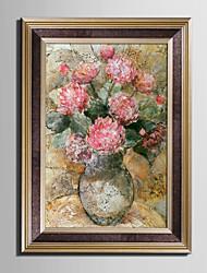 baratos -Floral/Botânico Vida Imóvel Vintage Quadros Emoldurados Conjunto Emoldurado Arte de Parede,PVC Material com frame For Decoração para casa