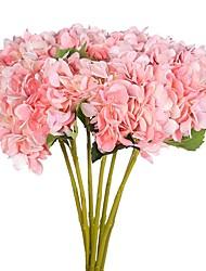 billige -Kunstige blomster 2 Afdeling pastorale stil Hortensiaer Bordblomst