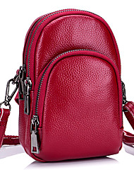 cheap -Women Bags Cowhide Crossbody Bag Buttons Zipper for Event/Party Office & Career All Seasons Black Red Dark Blue Light Purple