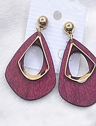 cheap -Women's Stud Earrings / Drop Earrings - Drop Simple Style, Fashion Red / Green / Blue For Casual / Going out
