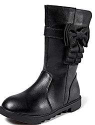 baratos -Para Meninas Sapatos Couro Ecológico Inverno Botas de Neve Botas para Preto / Rosa claro / Botas Cano Alto