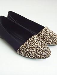 Damen Schuhe Tüll Sommer Herbst Komfort Flache Schuhe Flacher Absatz Spitze Zehe Schleife Für Normal Leopard