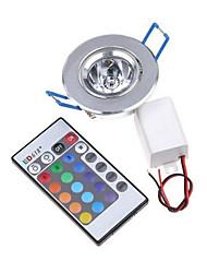 1pcs 3w rgb привели потолочные светильники вниз утопленные светодиодные светильники потолочные алюминиевые потолочные с драйвером
