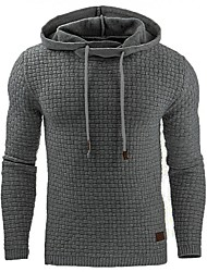 cheap -Men's Plus Size Hoodie - Solid