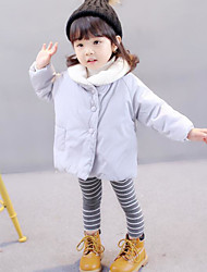 cheap -Girls' Solid Down & Cotton Padded Winter Fall Long Sleeve Blushing Pink Light Blue