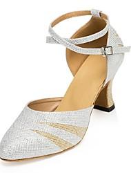 "cheap -Women's Modern Leatherette Net Professional Buckle Customized Heel Silver 1"" - 1 3/4"" 2"" - 2 3/4"" 3"" - 3 3/4"" 4"" & Up Customizable"