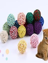 Недорогие -Кошка Игрушка для котов Игрушка для собак Игрушки для животных Шарообразные Интерактивный Веревка Хлопок Для домашних животных