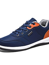 cheap -Men's Shoes PU Winter Comfort Sneakers Lace-up for Casual Black Dark Blue Gray