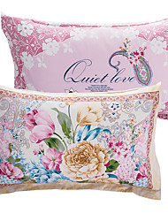 cheap -Pillow Cover - 100% Cotton Reactive Print Floral 2pcs Pillowcases