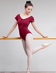 cheap -Ballet Women's Performance Spandex Short Sleeve Natural Leotard