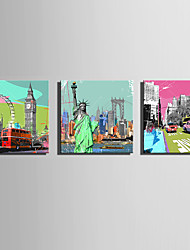 cheap -Three Panels Canvas Square Print Wall Decor For Home Decoration