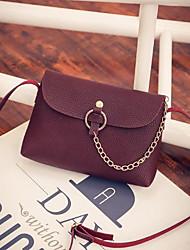 Women Bags All Seasons PU Shoulder Bag Zipper for Casual Wine Light Gray Blushing Pink Black