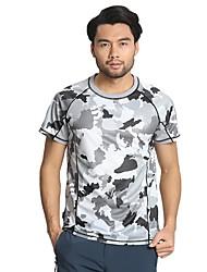 Unisexe Tee-shirt de Course Manches Courtes Séchage rapide Hauts/Top pour Cyclisme sur Route Exercice & Fitness Spandex Nylon Ample