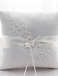 cheap -Ribbon Rhinestone Flower(s) Satin Silk Ring Pillows Wedding Ceremony