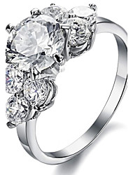 cheap -Women's Engagement Ring Cubic Zirconia Zircon Titanium Steel Jewelry Wedding Party
