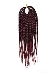 """страх замки волос кос афро плетеные гавана твист синтетические волосы черный / темное вино 14 """"оплетка волос наращивание волос"""
