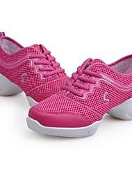 economico -Da donna Sneakers da danza moderna PU (Poliuretano) Tacchi Da allenamento Plateau Fucsia Nero e Oro Nero/Rosso