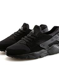Homme Chaussures Polyuréthane Printemps Automne Confort Chaussures d'Athlétisme Course à Pied Pour Athlétique Décontracté Noir Noir/blanc