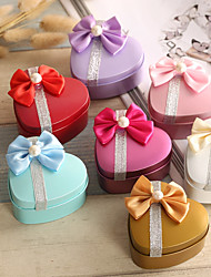cheap -Heart-shaped Iron(nickel plated) Favor Holder With Bow Favor Boxes