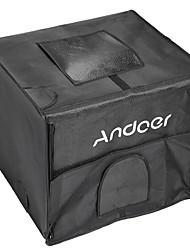 andoer studio fotografico pieghevole 40 * 35 * 35cm ha condotto il softbox del tenda della tenda chiara con 2 pannelli chiari 3 borsa di