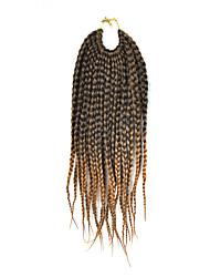 """страх замки волос кос афро плетеные гавана твист синтетические волосы черные / средние каштановые 14 """"плетение волос наращивание волос"""