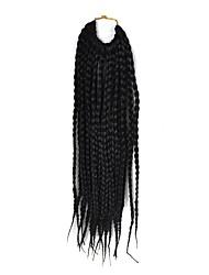 """страх замки волос кос афро плетеные гавана твист синтетические волосы черный 14 """"оплетка волос наращивание волос"""