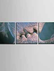 cheap -Abstract Modern, Three Panels Canvas Square Print Wall Decor Home Decoration