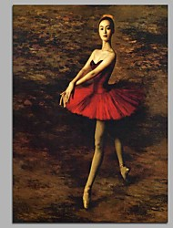 cheap -Ballerina Wall Decor Hand Painted Contemporary Oil Paintings Modern Artwork Wall Art