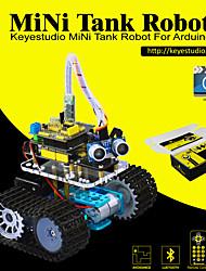 Недорогие -keyestudio diy мини-танк умный робот автомобильный комплект для arduino робот стартер manualpdf установка видео-видео видео5 проектов