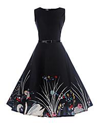 abordables -Vestido Chica de Cumpleaños Noche Festivos Un Color Floral Algodón Poliéster Sin Mangas Primavera Verano Vestidos Estilo retro Diseño