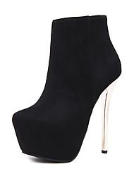 preiswerte -Damen Schuhe Leder Winter Herbst Komfort Neuheit Pumps Stiefel Stöckelabsatz Reißverschluss für Hochzeit Normal Kleid Party & Festivität